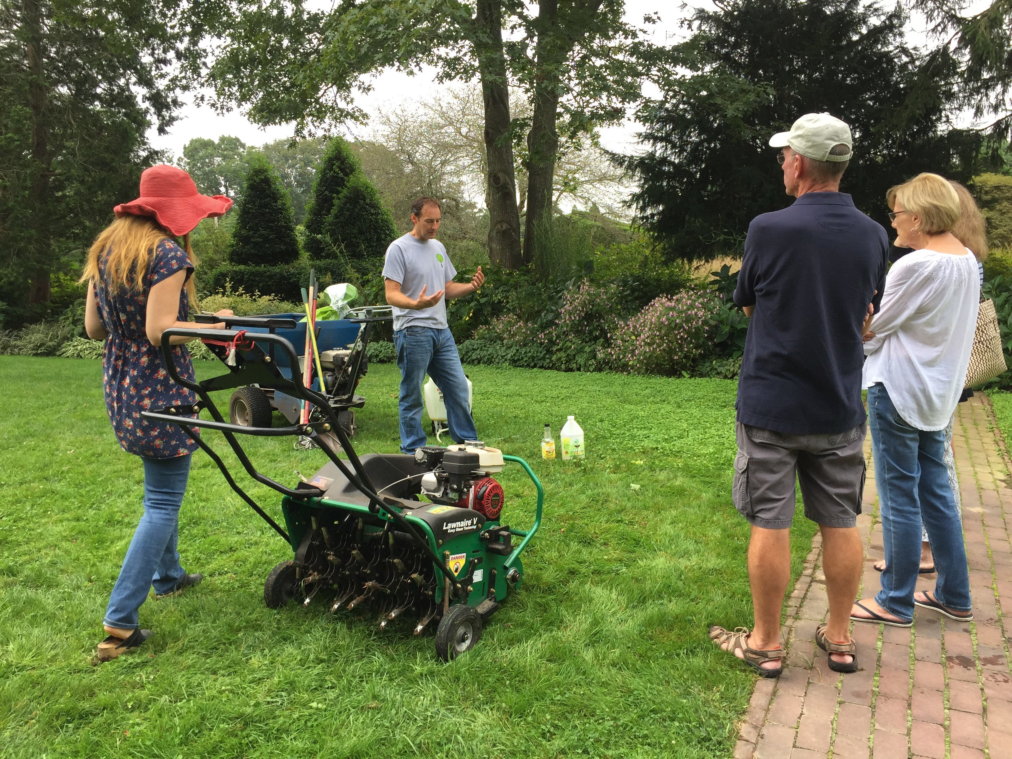 Paul Wagner demonstrating lawn care