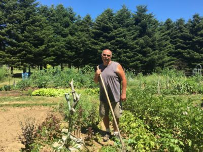 Community gardener at the Ag Center
